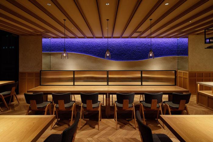 左官職人 久住有生 施工作品 宿泊施設 『ホテル フェリーチェ赤坂 レストラン』