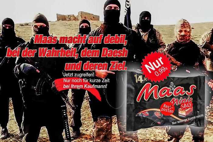 Heiko Maas, SPD, Brüssel, Terror, Daesh, IS, Krieg, Europa, Deutschland, Satire