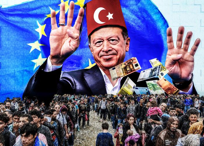 Recep Erdogan, Merkel, CDU, Politik, Europa, Türkei, Flüchtlinge, Satire