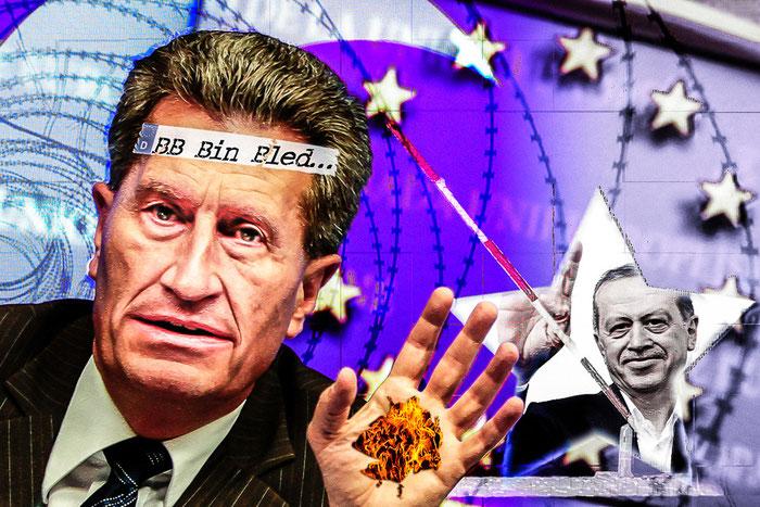 CDU, Günther Oettinger, Recep Erdogan, Türkei, Deutschland, EU, Politik, Satire