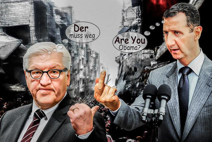 SPD, Frank Walter Steinmeier, Syrien, Baschar al-Assad, Politik, Satire