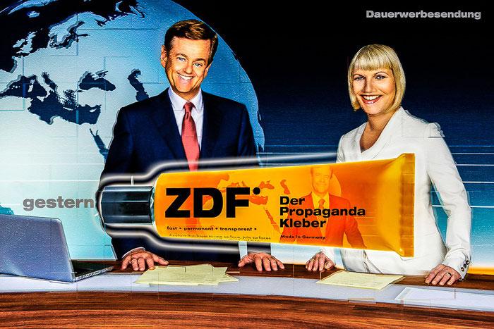 ZDF, Claus Kleber, Gundula Gause, heutejournal, Lügenpresse, Fernsehen, Deutschland, Satire