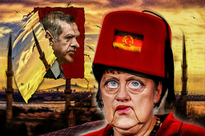 CDU, Angela Merkel, Recep Erdogan, Türkei, Deutschland, Politik, Satire