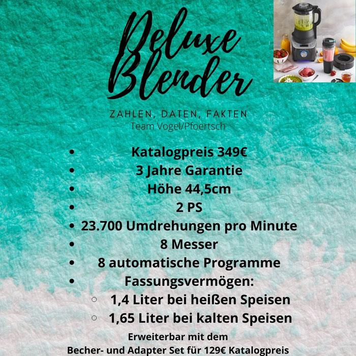 Datenblatt Deluxe Blender von Pampered Chef®