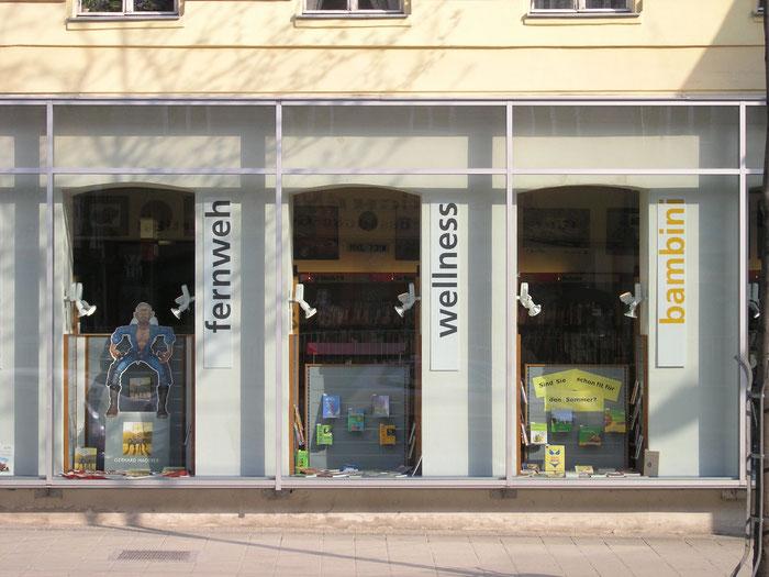 Auslagengestaltung Buchhandlung Architektin Lehner