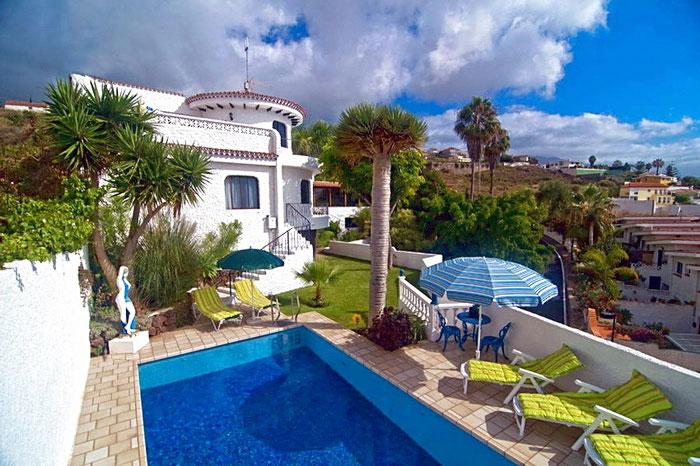 Exclusive Villa Coronna mit beheiztem Pool und Internet auf Teneriffa Nord in La Matanza