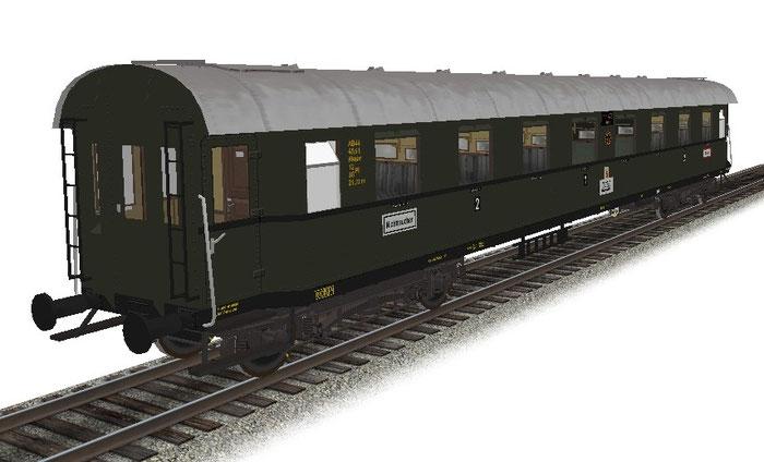 DRG D-Zugwg Gr39 (Schürzenwagen) 2.Klasse