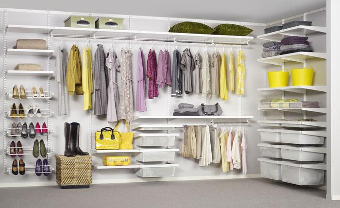 Kleiderschrank - Regal für begehbare Ankleide - Regalsystem für Ankleidezimmer