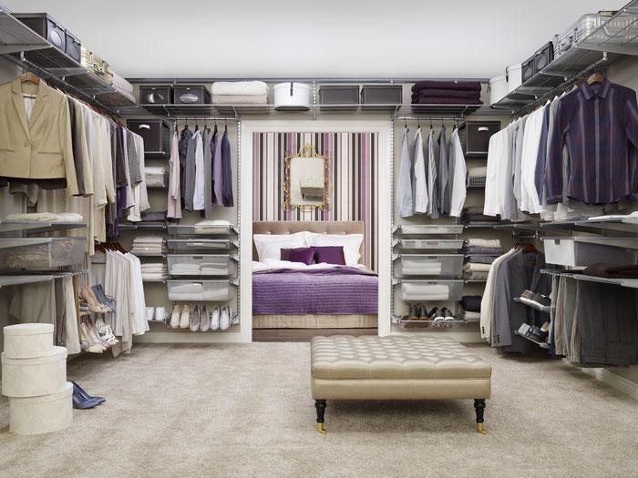 Ankleidezimmer - Kleiderschrank - Regal für Ankleide - Begehbarer Kleiderschrank