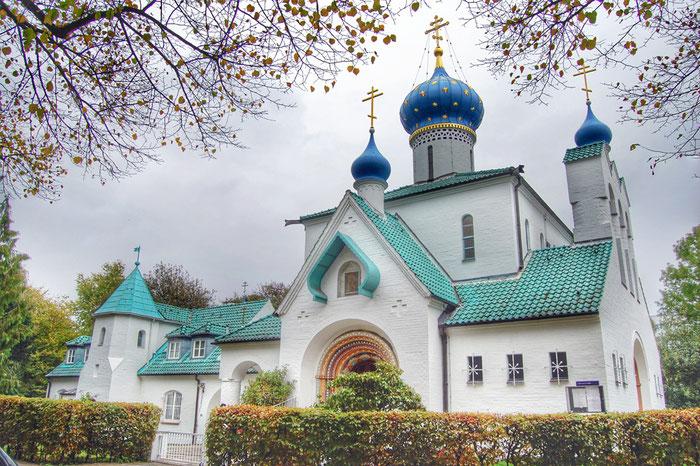 Die russische orthodoxe Kirche des heiligen Prokopius in Hamburg. In dieser Kirche findet an jedem ersten Sonntag im Monat  der Gottesdienst in deutscher Sprache statt. Hier diente Vater Ambrosius als Seelsorger der deutschsprachigen Orthodoxen.