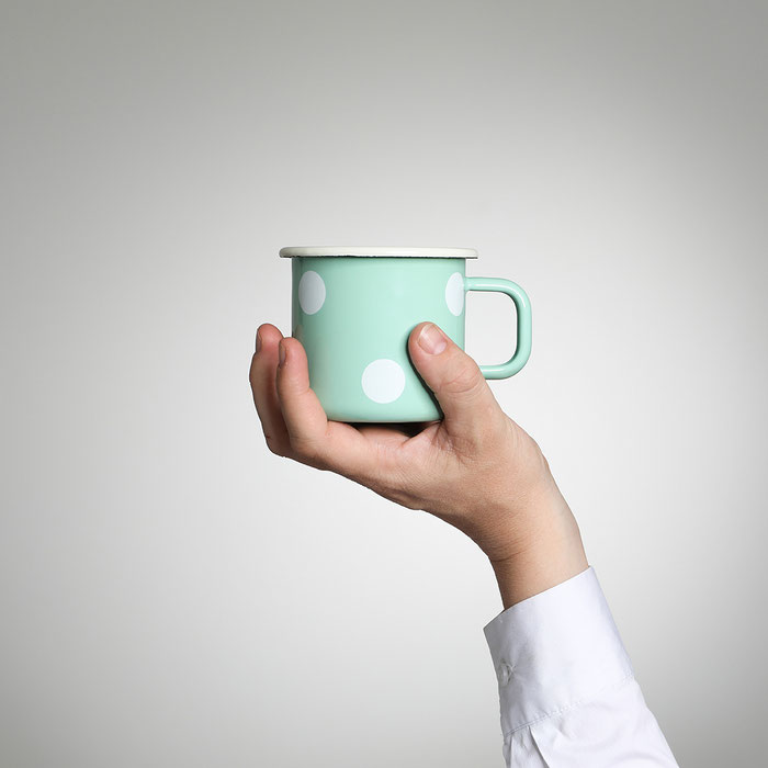 YIV Emaille Kaffeetassen