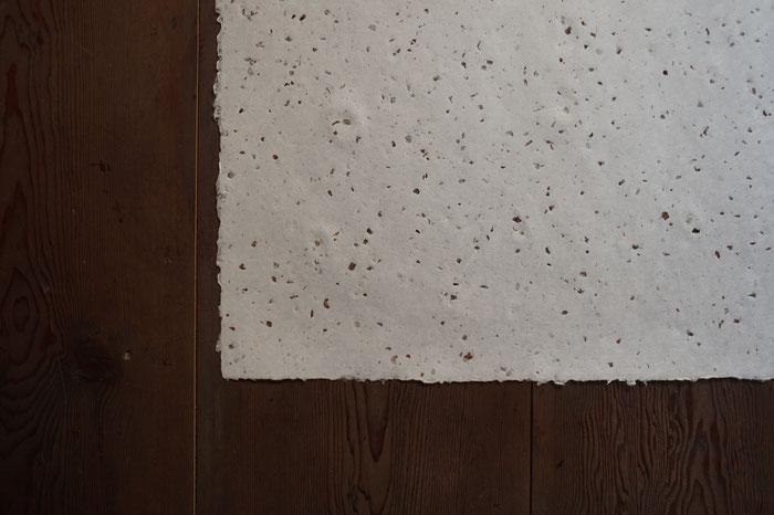 能登仁行和紙 壁紙 小豆入紙 自然素材
