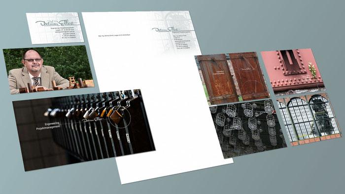 Werbung von Dietmar Ehlert: Brief, Visitenkarte, Bilder für die Internetpräsenz