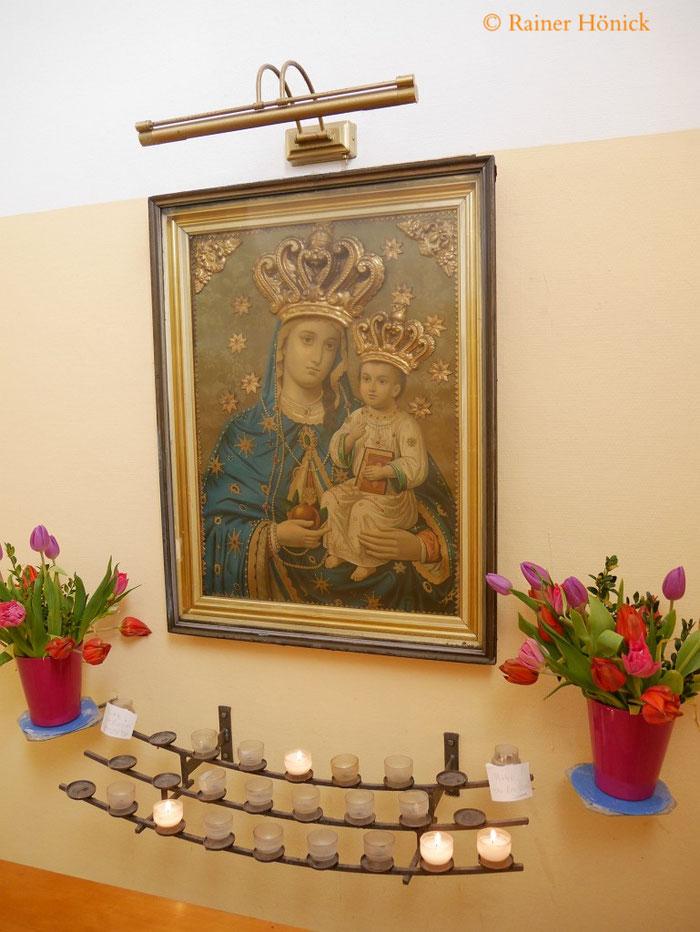 Marienbild in der Marienkapelle der Herz-Jesu Kirche