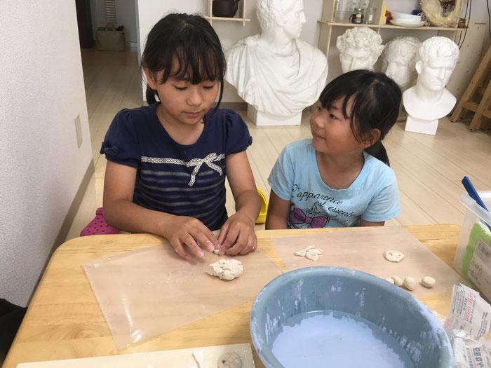 体験レッスン 粘土作成