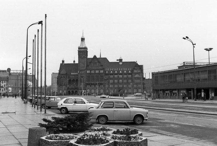 Altes Rathaus, Straße der Nationen, Karl-Marx-Stadt, 1980, 80er Jahre, DDR, Deutsche Demokratische Republik