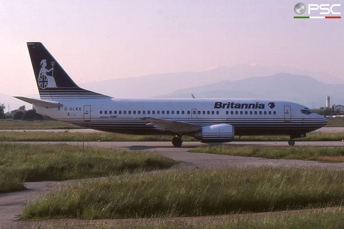 G-BLKE B737-3T5 23063/1092 Britannia Airways © 2018 courtesy of Marco Ceschi - Piti Spotter Club Verona
