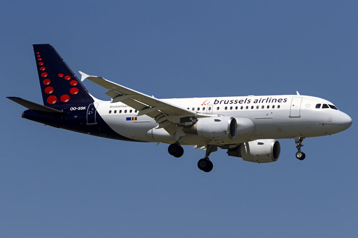 OO-SSK A319-112 1336 Brussels Airlines @ Venice Airport 18.06.2016 © Piti Spotter Club Verona