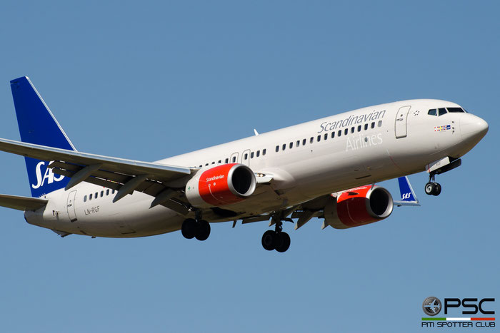 LN-RGF B737-86N 38038/4429 SAS Scandinavian Airlines - Scandinavian Airlines System @ Pisa Airport 08.07.2017 © Piti Spotter Club Verona