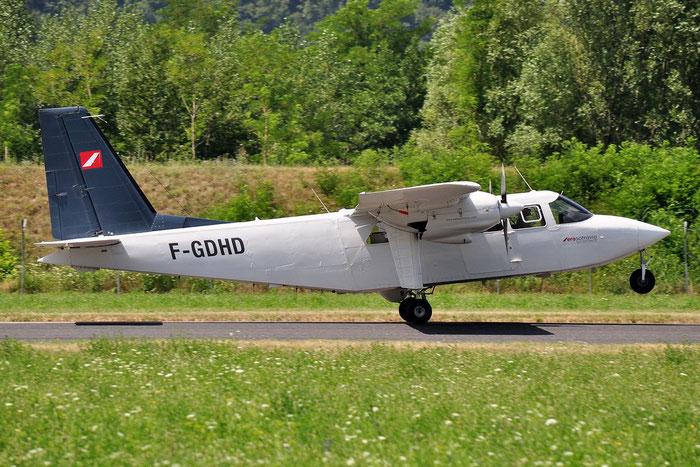 F-GDHD BN-2A-9 591 Aero Sotravia @ Aeroporto di Trento © Piti Spotter Club Verona