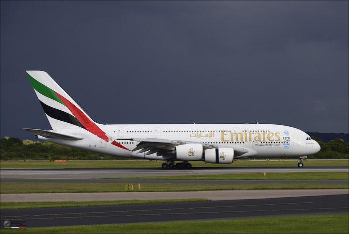 A6-EEQ A380-861 141 Emirates @ Manchester Airport 21.06.2015 © Piti Spotter Club Verona