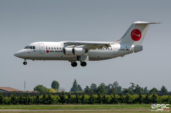 D-AMGL BAe146-200A E2055 WDL Aviation @ Aeroporto di Verona 08.2019  © Piti Spotter Club Verona