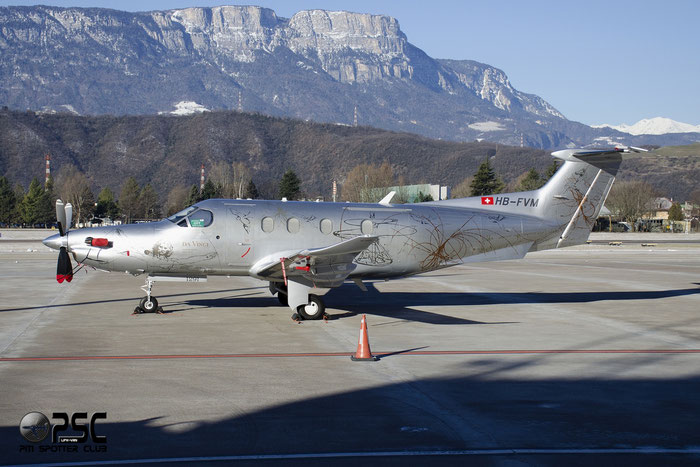 HB-FVM PC-12/47E 1291 Leonardo Flyers AG @ Aeroporto di Bolzano © Piti Spotter Club