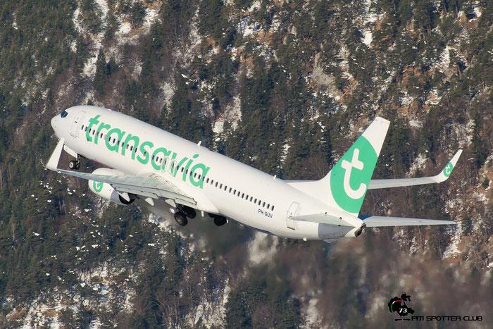 PH-GUV B737-8EH 39609/4283 Transavia Airlines @ Innsbruck Airport 28.01.2017  © Piti Spotter Club Verona