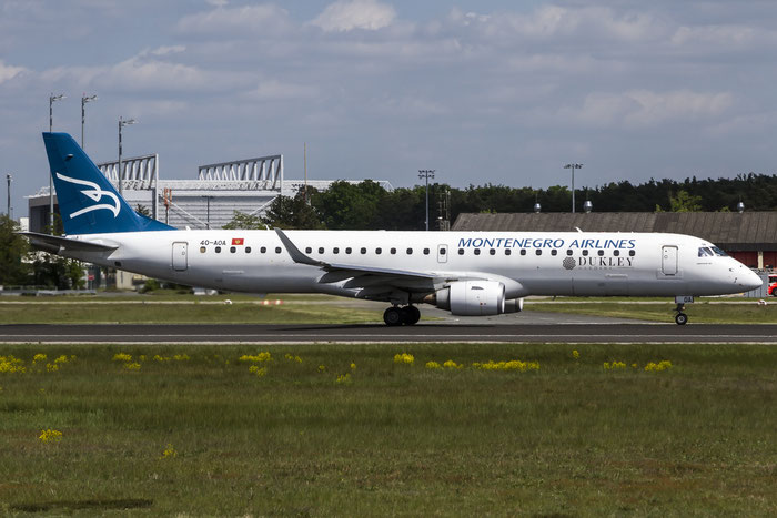 4O-AOA ERJ195LR 19000180 Montenegro Airlines @ Frankfurt Airport 08.05.2014 © Piti Spotter Club Verona