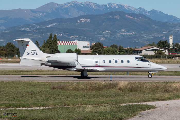 D-CITA Learjet 60 60-069 German Privat Jet Group - @ Aeroporto di Verona - 05/10/2016 © Piti Spotter Club Verona