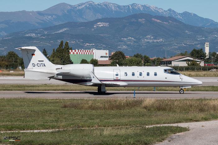 D-CITA Learjet 60 60-069 German Privat Jet Group - @ Aeroporto di Verona - 05/10/2016 © Piti Spotter Club Verona