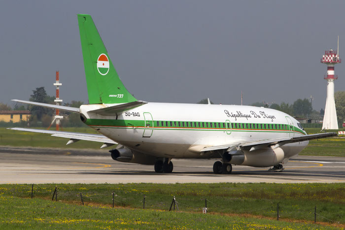 5U-BAG B737-2N9C 21499/513 Government of Niger @ Bologna Airport 06.04.2014 © Piti Spotter Club Verona