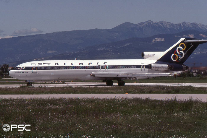 SX-CBA B727-284 20003/671 Olympic Airways © 2018 courtesy of Marco Ceschi - Piti Spotter Club Verona