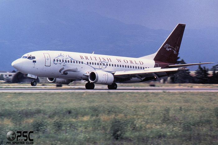 G-OBWX  B737-3Y0  24255/1625  British World Airlines  @ Aeroporto di Verona © Piti Spotter Club Verona