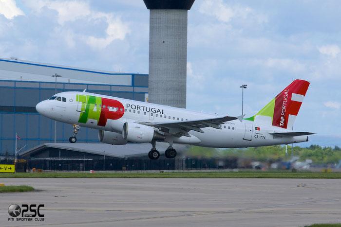 CS-TTC A319-111 763 TAP Portugal - Transportes Aéreos Portugueses @ Manchester Airport 13.05.2014 © Piti Spotter Club Verona