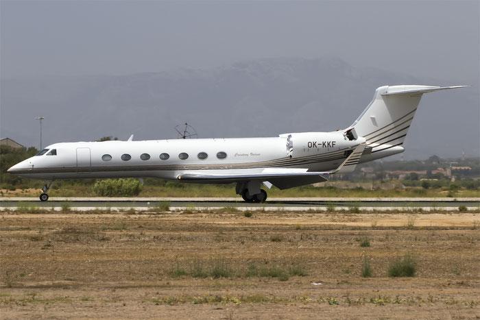 OK-KKF G550 5426 Grossman Jet Services @ Palma de Mallorca Airport 07.2014 © Piti Spotter Club Verona