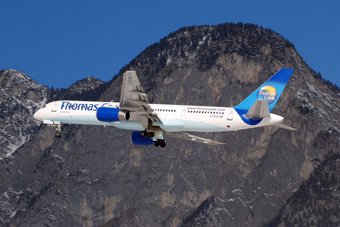 G-FCLB B757-28A 28164/749 Thomas Cook Airlines @ Innsbruck Airport 01.2012 © Piti Spotter Club Verona