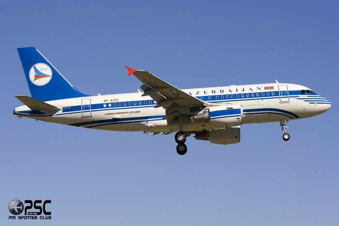 4K-AZ01 A319-115 (ACJ) 2487 Government of Azerbaijan @ Aeroporto di Verona © Piti Spotter Club Verona