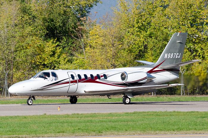 N987CJ CeS550 S550-0152 Aircraft Guaranty Corp. @ Aeroporto di Bolzano © Piti Spotter Club Verona