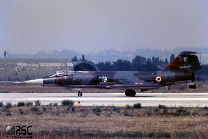 Gli F-104 del Terzo Stormo: 3-12 -  @ Aeroporto di Verona   © Piti Spotter Club Verona