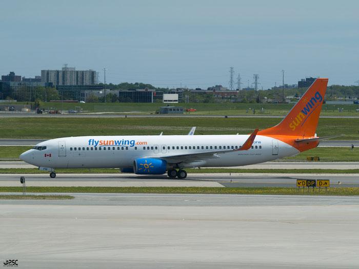 C-GOFW B737-8BK 33018/1488 Sunwing Airlines @ Toronto Pearson Airport 17.05.2013 © Piti Spotter Club Verona
