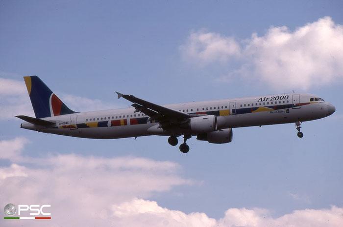 G-OOAE  A321-211  852  Air 2000  @ Aeroporto di Verona © Piti Spotter Club Verona