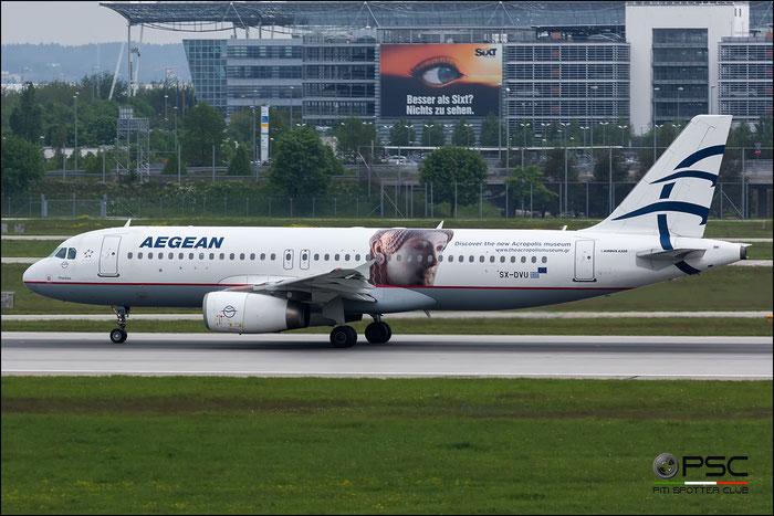 SX-DVU A320-232 3753 Aegean Airlines @ Munich Airport 2916 © Piti Spotter Club Verona