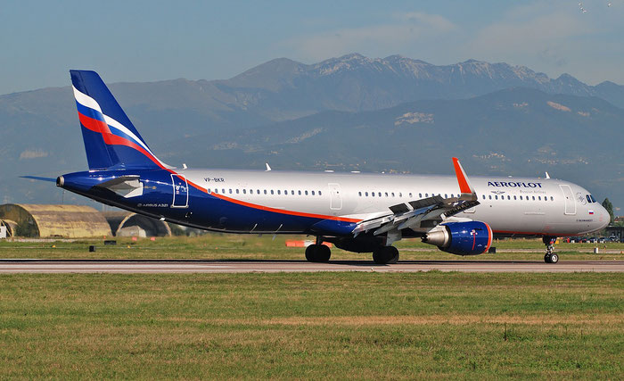 VP-BKR A321-211 7782 Aeroflot @ Aeroporto di Verona 04.09.2018  © Piti Spotter Club Verona