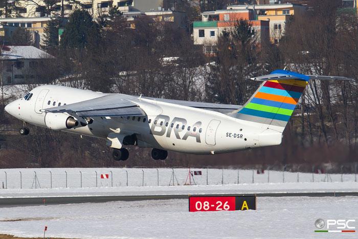 SE-DSR BAe146-RJ100 E3244 BRA - Braathens Regional Airlines @ innsbruck Airport 27.01.2017 © Piti Spotter Club Verona