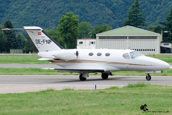 OE-FNP Ce510 510-0185 GlobeAir AG @ Aeroporto di Bolzano © Piti Spotter Club Verona