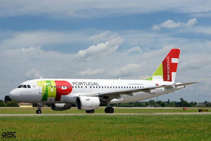 CS-TTF A319-111 837 TAP Portugal - Transportes Aéreos Portugueses @ Bologna Airport 04.05.2014 © Piti Spotter Club Verona