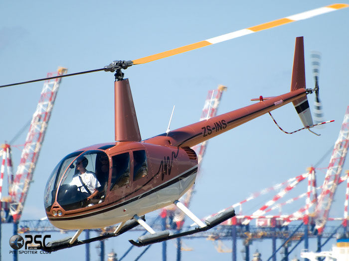 ZS-INS Robinson R44 Raven II @ Cape Town downtown Heliport Airport 19.03.2014 © Piti Spotter Club Verona