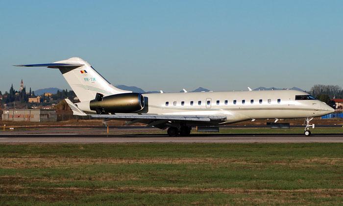 YR-TIK Global 5000 9229 Ion Tiriac Air @ Aeroporto di Verona 12.2018  © Piti Spotter Club Verona