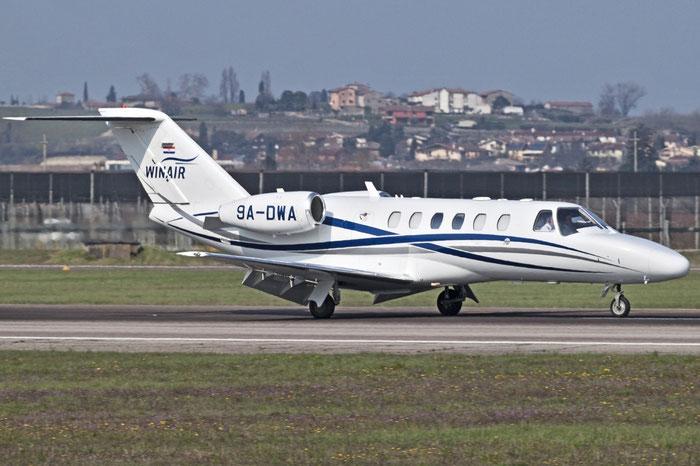 9A-DWA Ce525A (CJ2+) 525A-0412 Winair @ Aeroporto di Verona 06.2018  © Piti Spotter Club Verona